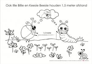 Corona Illie Billie kleurplaat